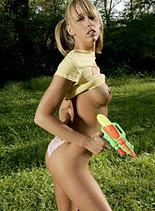 Daisys Perky Tits Are Soaked In The Water Fight - Picture 7